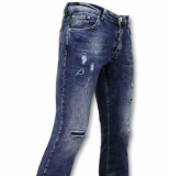 True Rise Paint drops jeans skinny jeans
