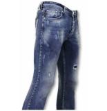 True Rise Broek met vlekken skinny jeans