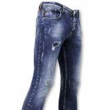 True Rise Spijkerbroek met verfspatten paint drops jeans