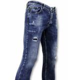 True Rise Spijkerbroek met verfspatten skinny fit jeans