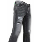 True Rise Skinny jeans met verfspatten
