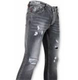 True Rise Skinny fit paint drops jeans spijkerbroek