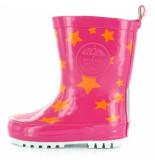 Shoesme Regenlaars rainboot fuchsia ster-schoenmaat 20