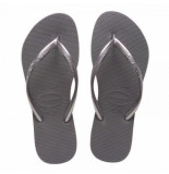 Havaianas Slipper kids slim steel grey-schoenmaat 23 24