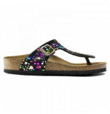 Birkenstock Slipper girls gizeh confetti black narrow