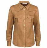 Summum 2s2461-11269 729 shirt long slv suedine chestnut