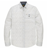 PME Legend Psi205222 7003 long sleeve shirt poplin h all-over print white