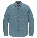 PME Legend Psi205222 5239 long sleeve shirt poplin with all-over print blue