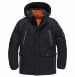 PME Legend Pja205121 599 hooded jacket course twill + wiber conselhawk blue