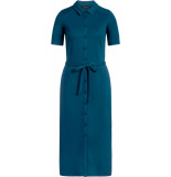 King Louie Rosie slim fit dress milano pond blue