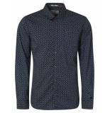 Noize Shirt, l/s, print, wavy dots navy