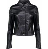 Geisha Jacket pu black