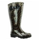 Wide Wellies Regenlaars leopard bruin kuitmaat xxl-schoenmaat 41