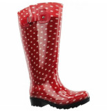 Wide Wellies Regenlaars wit polka dots kuitmaat l-schoenmaat 38