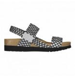 Scholl Sandaal women kaory sandal black/silver-schoenmaat 37