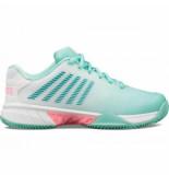 K-Swiss Tennisschoen k-swiss women hypercourt express 2 hb blue white pink-schoenmaat 37