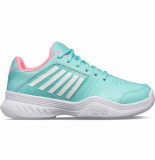 K-Swiss Tennisschoen kids court express carpet aruba blue soft neon pink white-schoenmaat 33 (uk 1)