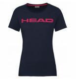 Head Tennisshirt women club lucy dark blue magenta-s