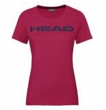 Head Tennisshirt women club lucy magenta dark blue-l
