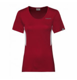 Head Tennisshirt women club tech red-xl