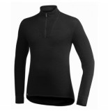 Woolpower Skipully unisex zip turtleneck 200 black-s