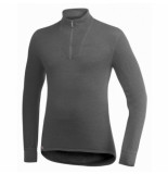Woolpower Skipully unisex zip turtleneck 200 grey-s