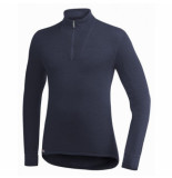 Woolpower Skipully unisex zip turtleneck 400 dark navy-xs