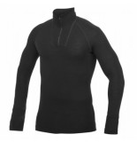 Woolpower Skipully unisex zip turtleneck lite black-l