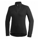 Woolpower Skipully unisex zip turtleneck 400 black-xxs