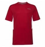 Head Tennisshirt boys club tech red-maat