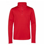 Protest Skipully girls fabrizoy 1/4 zip red alert-maat