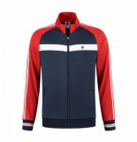 K-Swiss Tennisvest men heritage sport tracksuit jacket navy red