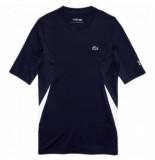 Lacoste Tennisshirt men th486 novak djokovic crew neck navy blue white-