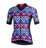 Nalini Fietsshirt women raffinata 2.0 roze blauw-m
