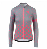 AGU Fietsshirt women essentials sprinkle dot l/s dove grey-xl