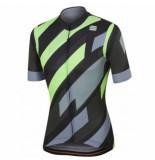 Sportful Fietsshirt men volt jersey black green fluo-xxxl