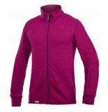 Woolpower Vest unisex full zip jacket 400 cerise purple-xxs