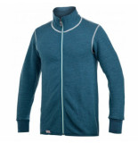 Woolpower Vest unisex full zip jacket 400 petrol champ-s