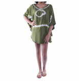 Pure-Kenya Strandjurkje pure kenya batik short dress army green-one-size