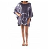 Pure-Kenya Strandjurkje pure kenya batik short dress gray-one-size