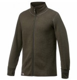 Woolpower Vest unisex full zip jacket 600 pine green-xs