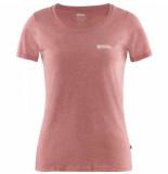 Fjällräven T-shirt fjällräven logo raspberry red-melange