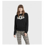 UGG Australia Trui women fuzzy logo crewneck sweatshirt black-m