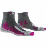 X-Socks Wandelsok women trek outdoor low cut antracite fuchsia-schoenmaat 41 42