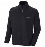 Columbia Vest men fast trek ii full zip fleece black-s