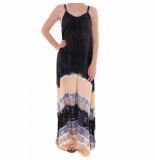Pure-Kenya Strandjurkje pure kenya batik long dress black peach-s / m