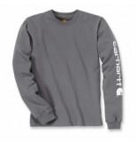 Carhartt Shirt men sleeve logo l/s charcoal-xxl