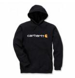 Carhartt Trui men signature logo hooded sweatshirt black-m