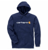 Carhartt Trui men signature logo hooded sweatshirt new navy-s