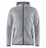 Craft Vest men emotion full zip hood grey melange-s